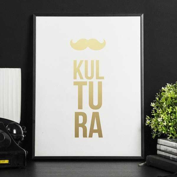 KULTURA - Plakat ze złotym nadrukiem