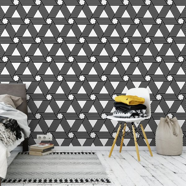 Tapeta na ścianę - TRIANGULAR SWIRL