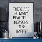 REASONS TO BE HAPPY - Plakat Typograficzny
