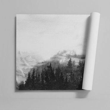 Tapeta na ścianę - WOODY MOUNTAINS ART