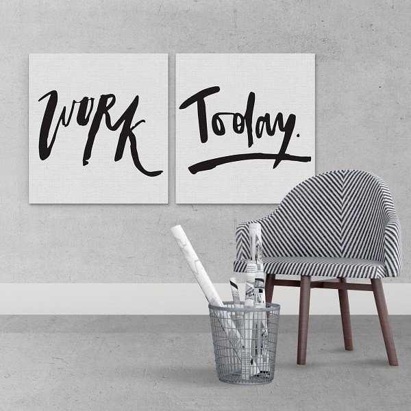 WORK TODAY - Komplet dwóch obrazów