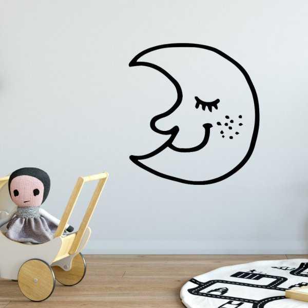 Naklejka na ścianę - SCANDI MOON