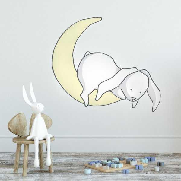 Naklejka na ścianę - Rabbit Moon