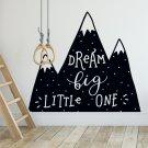 Naklejka na ścianę - DREAM BIG LITTLE ONE