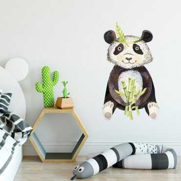 Naklejka na ścianę - TROPICAL PANDA