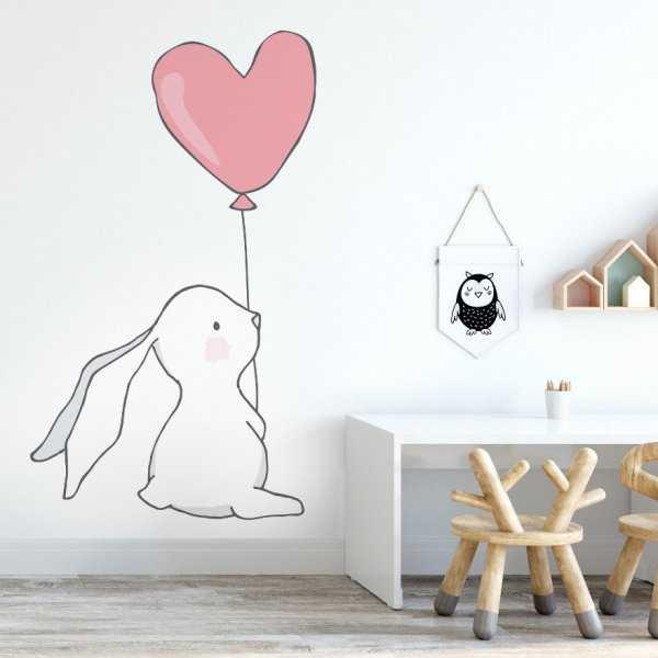 Naklejka na ścianę - RABBIT HEART