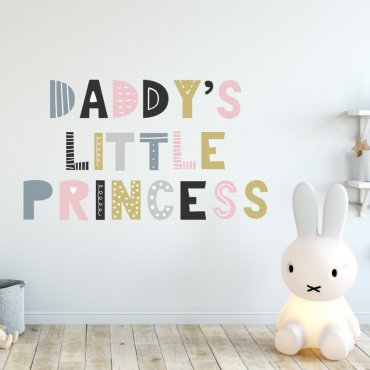 Naklejka na ścianę - DADDY'S LITTLE PRINCESS