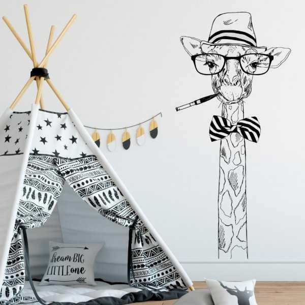 Naklejka na ścianę - MR GIRAFFE