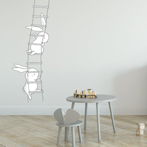 Naklejka na ścianę - CLIMBING RABBITS