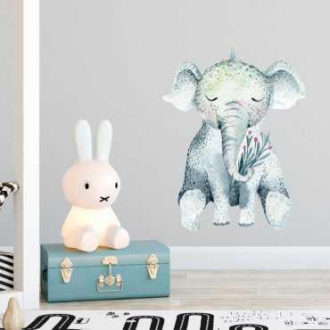 Naklejka na ścianę - BABY ELEPHANT
