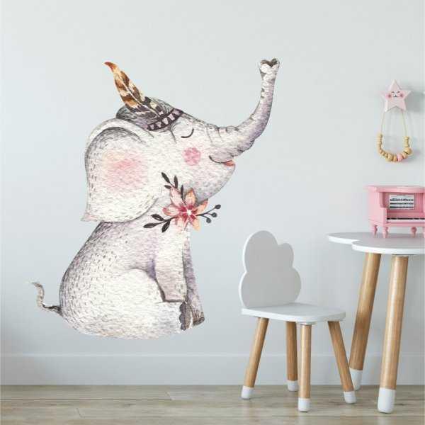 Naklejka na ścianę - LOVELY ELEPHANT