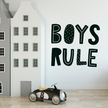 Naklejka na ścianę - BOYS RULE
