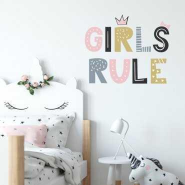 Naklejka na ścianę - GIRLS RULE