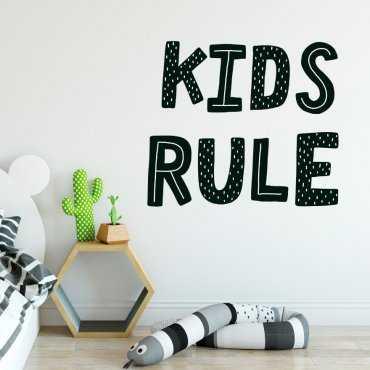 Naklejka na ścianę - KIDS RULE