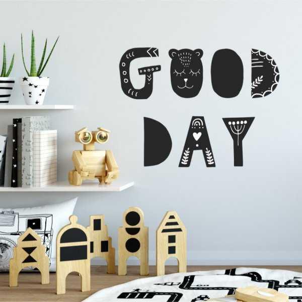 Naklejka na ścianę - GOOD DAY