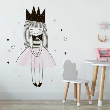 Naklejka na ścianę - LOVELY PRINCESS
