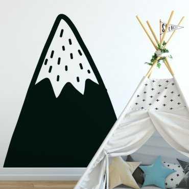 Naklejka na ścianę - SNOWY MOUNTAIN