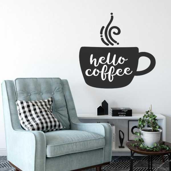 Naklejka na ścianę - HELLO COFFEE