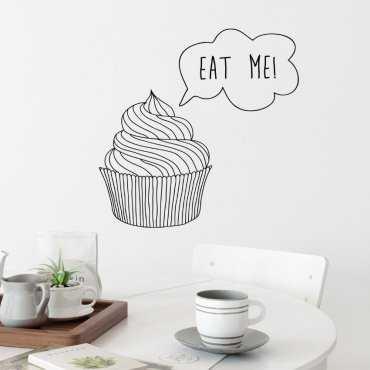 Naklejka na ścianę - EAT ME!