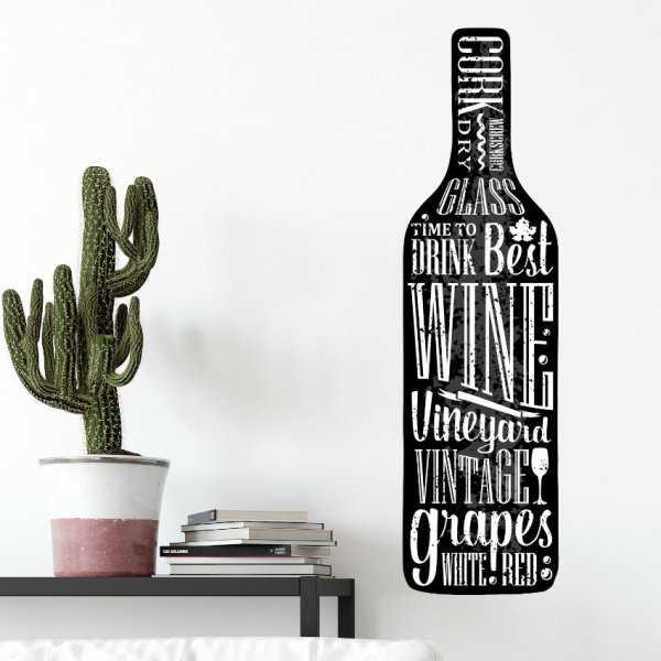 Naklejka na ścianę - STYLISH WINE