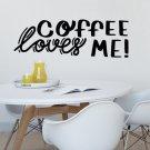 Naklejka na ścianę - COFFEE LOVES ME