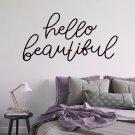 Naklejka na ścianę - HELLO BEAUTIFUL