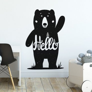 Naklejka na ścianę - Friendly Bear