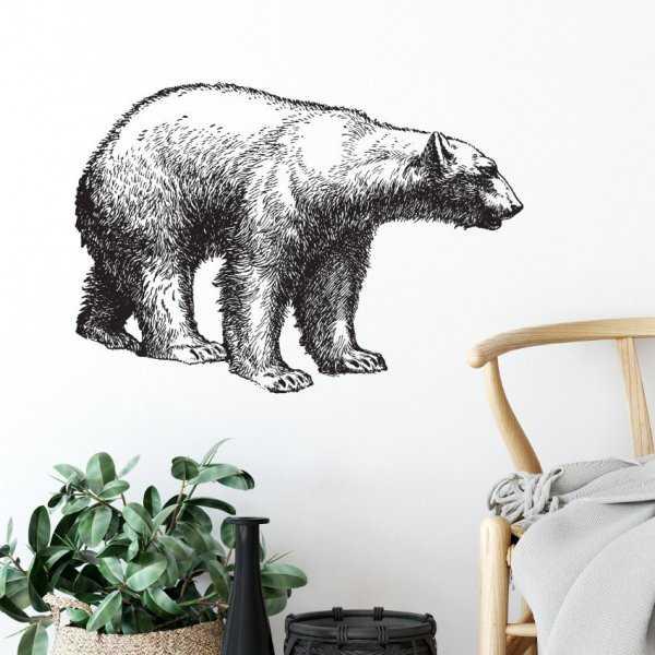 Naklejka na ścianę - Bear Design