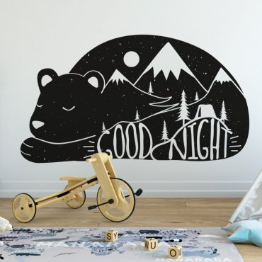 Naklejka na ścianę - Good Night Bear