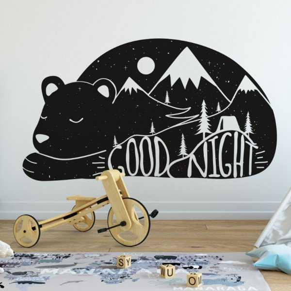 Naklejka na ścianę - Good Night Bear