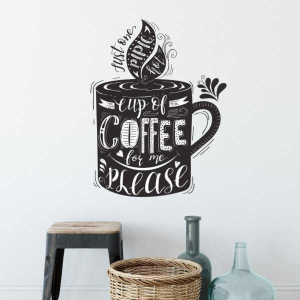 Naklejka na ścianę - CUP OF COFFEE