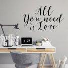 Naklejka na ścianę - ALL YOU NEED IS LOVE