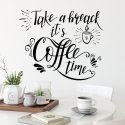 Naklejka na ścianę - TAKE A BREAK, IT'S COFFEE TIME