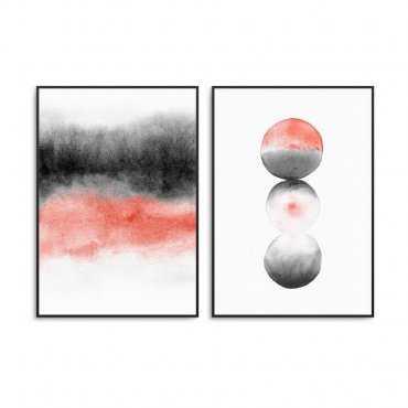 Zestaw dwóch plakatów - Living Coral Design