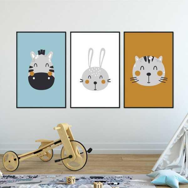 Zestaw plakatów dziecięcych - BEST FRIENDS