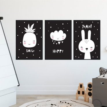 Zestaw plakatów dziecięcych - HAPPY ART