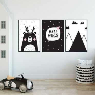 Zestaw plakatów dziecięcych - SCANDI EFFECT