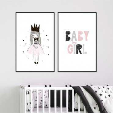 Zestaw plakatów dziecięcych - Baby Girl