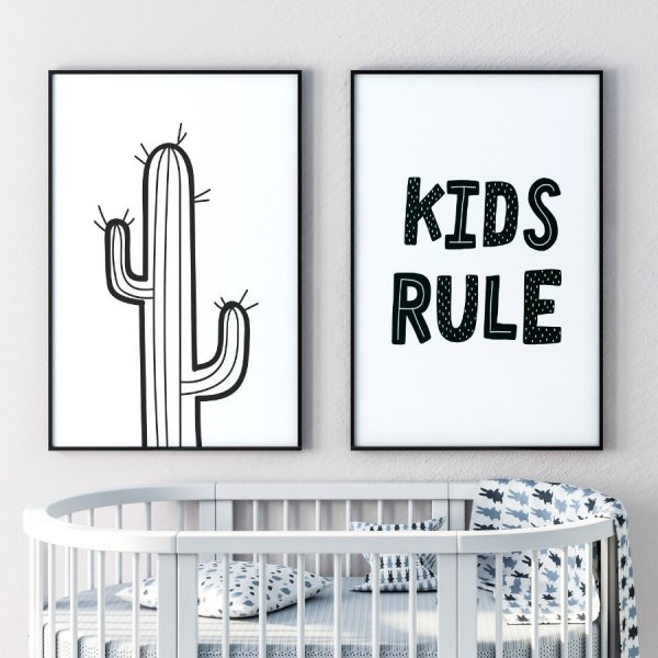 Zestaw plakatów dziecięcych - KIDS RULE