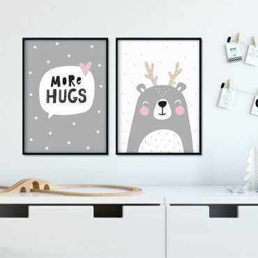 Zestaw plakatów dziecięcych - MORE HUGS