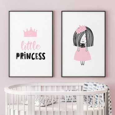 Zestaw plakatów dziecięcych - PINK PRINCESS