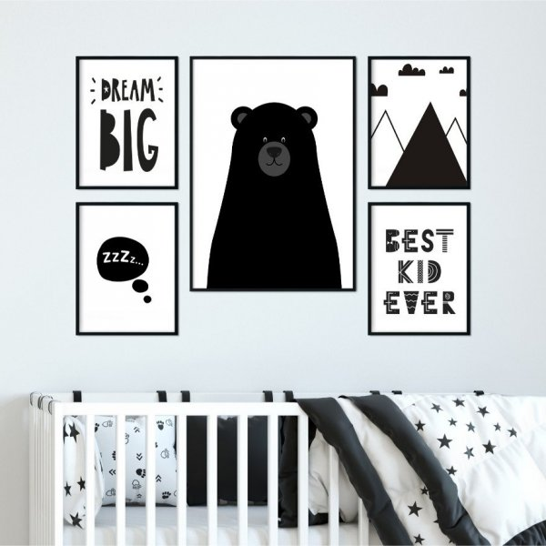 Komplet czterech plakatów - TRENDY KIDS ART