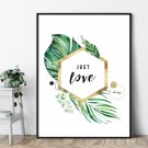 Plakat w ramie - JUST LOVE ART