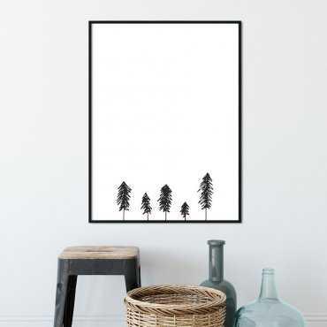 Plakat w ramie - MINIMALIST FOREST