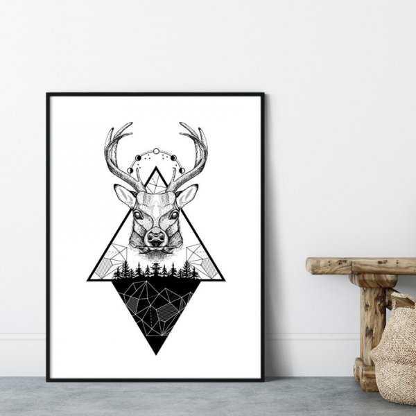Plakat w ramie - MOUNTAINS DEER
