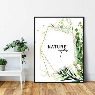 Plakat w ramie - NATURE INSPIRES