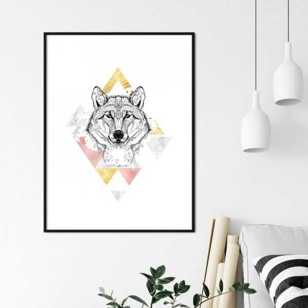 Plakat w ramie - SHINING WOLF