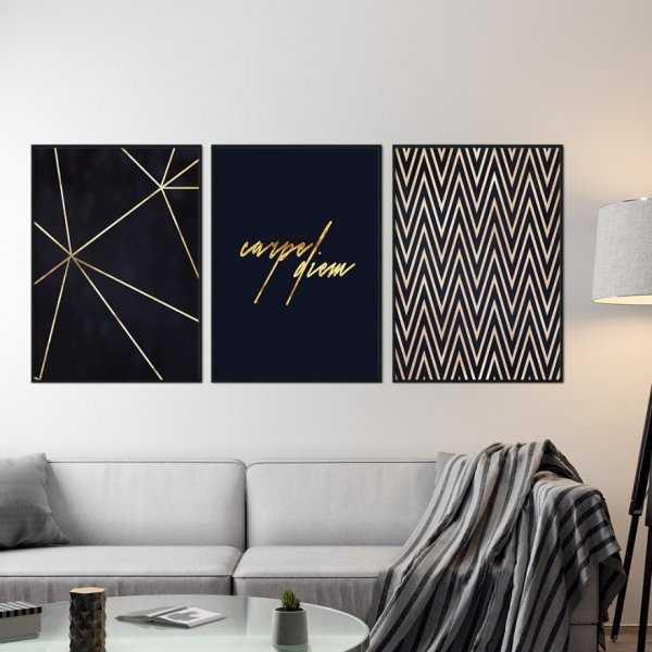 Zestaw trzech plakatów - CARPE DIEM DESIGN