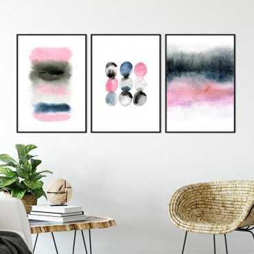 Zestaw trzech plakatów - WATERCOLOR ART