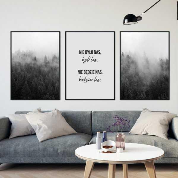 Zestaw trzech plakatów - LAS